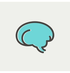 Human brain thin line icon vector image