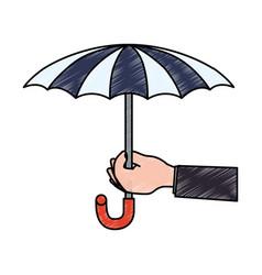 Insurance umbrella symbol vector