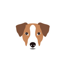 Jack russel terrier head vector