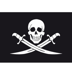 Jolly Roger Black vector image vector image
