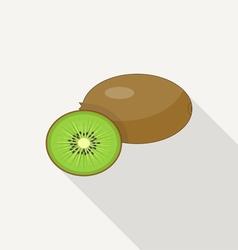 Kiwi flat icon vector