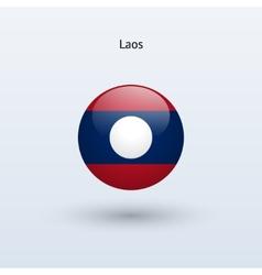 Laos round flag vector