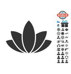 Lotus flower icon with free bonus vector