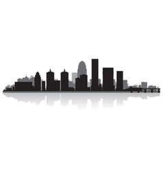 Louisville USA city skyline silhouette vector image