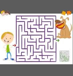 Maze activity game for kids vector