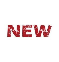 Red grunge new logo vector