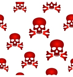 Red skull background vector image vector image