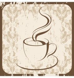 retro coffee cup vector image vector image
