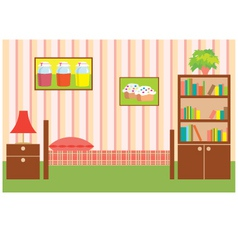 room of the girl vector image vector image