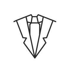 suit and tie line icon sign vector image vector image