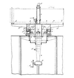 Torpedo tube vintage vector