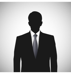 Unknown person silhouette whith tie vector