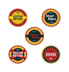 Vintage motorcycle badge theme set vector