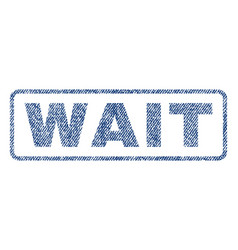 Wait textile stamp vector