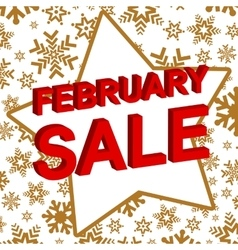 Winter sale poster with february sale text vector