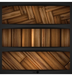 Wooden texture banner vector