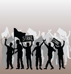 Workers strike vector