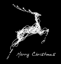 Hand drawn jump deer vector image