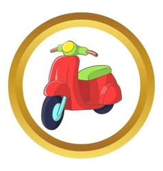 Red scooter icon vector image