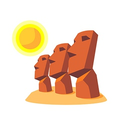 Icon moai vector
