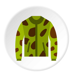 Camouflage jacket icon circle vector