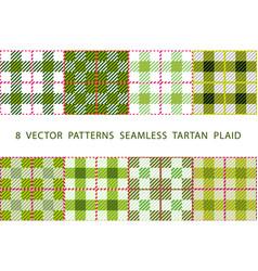 set of 8 abstract stylish geometrical seamless vector image