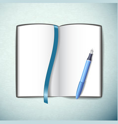 Opened sketchbook vector