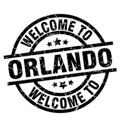 Welcome to orlando black stamp vector