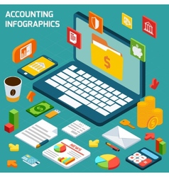 Accounting infographics set vector
