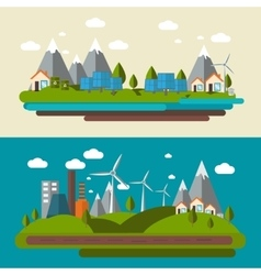 Ecology banner set vector