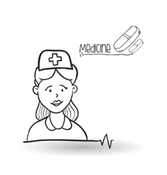 Medical care design health care icon sketch vector