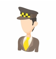 Taxi driver icon in cartoon style vector