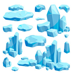 Broken pieces of ice game design vector