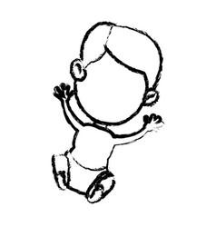 Cartoon baby jesus sacred catholic image vector