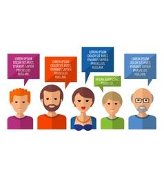 conversation logo design template society vector image vector image