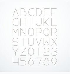 english alphabet thin font vector image