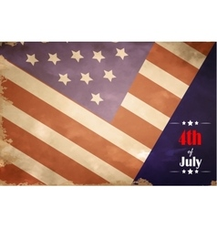 grunge flag of USA for independence day vector image