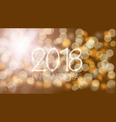 happy new 2018 year bokeh template vector image vector image