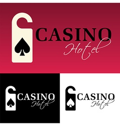 Hotel casino logo vector