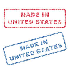 Made in united states textile stamps vector