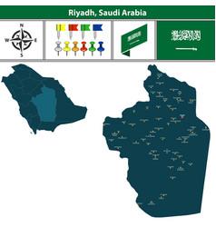 map of riyadh saudi arabia vector image