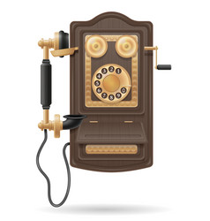 phone old retro icon stock vector image vector image