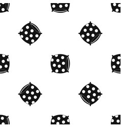 Pillow with dots pattern seamless black vector