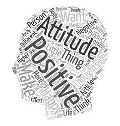 Reasons to stay positive text background wordcloud vector