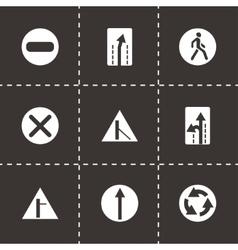 road element icon set vector image