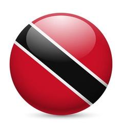 Round glossy icon of trinidad and tobago vector
