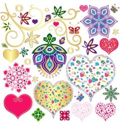 Set colorful design element vector image vector image