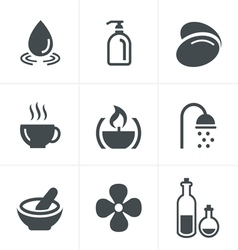 Spa Icons Set Design vector image