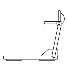 Sport treadmill icon outline style vector