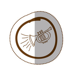 Symbol trumpet instrument icon vector